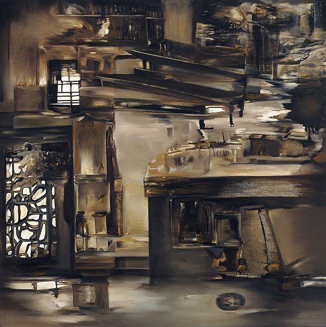 COGNAC AND GREY TOBACCO - Arwa Seifeddine